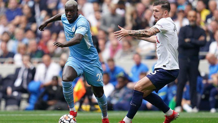 Benjamin Mendy (à gauche) est suspendu par Manchester City. (NICK POTTS / MAXPPP)