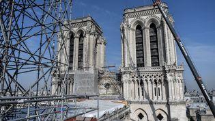 Le chantier de la cathédrale Notre-Dame, à Paris, le17 juillet 2019. (STEPHANE DE SAKUTIN / AFP)