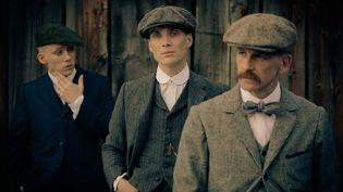 Les acteurs Cilliam Murphy (Tommy Shelby), Joe Cole (John Shelby) et Paul Anderson (Arthur Shelby). (Tiger Aspect Productions)