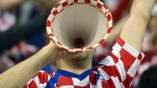 GROUPE C - CROATIE - Le supporter croate, nostalgique de la vuvuzela. (ODD ANDERSEN / AFP)