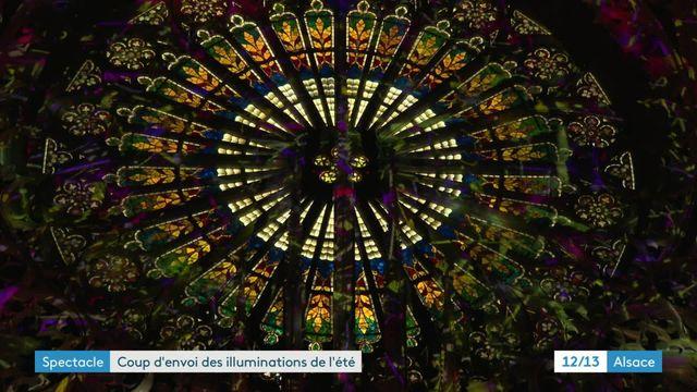 Tout l'été la cathédrale de Strasbourg s'illumine