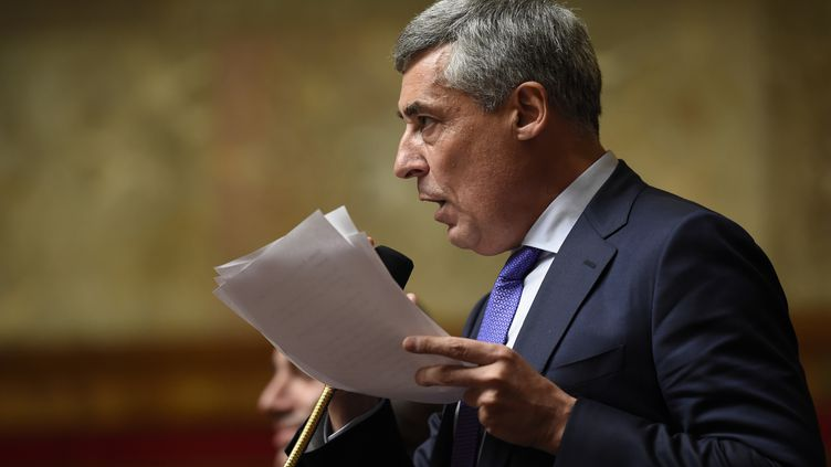 Henri Guaino, député des Républicains des Yvelines, à l'Assemblée nationale, le 28 octobre 2015. (ERIC FEFERBERG / AFP)