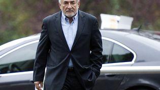 Dominique Strauss-Kahn, le 9 octobre 2011 à Sarcelles (Val-d'Oise). (MIGUEL MEDINA / AFP)