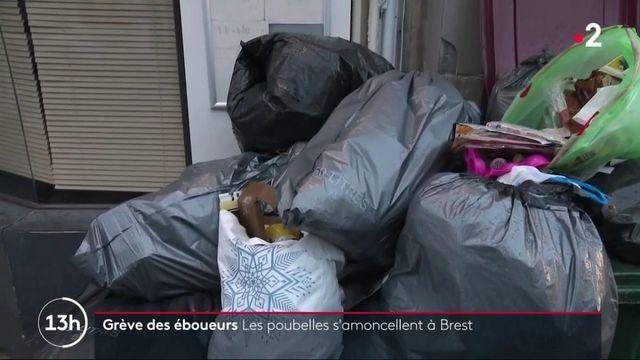 Finistère : Brest subit de plein fouet la grève des éboueurs