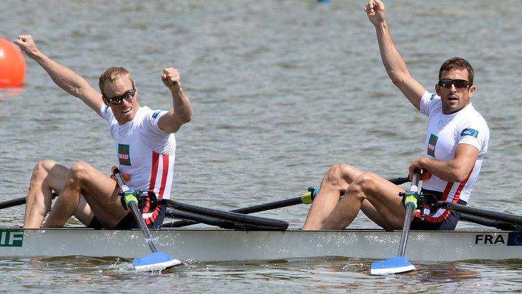 Jérémie Azou et Stany Delayre sont champions du monde ! (JANEK SKARZYNSKI / AFP)
