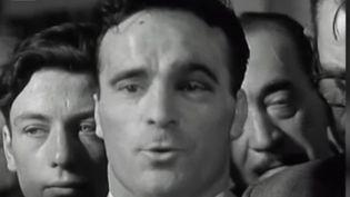 Marcel Cerdan lors de l'un de ses discours (capture écran France 2) (France 2)