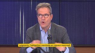 Martin Hirsch, le 13 septembre 2021, sur franceinfo. (FRANCEINFO / RADIOFRANCE)