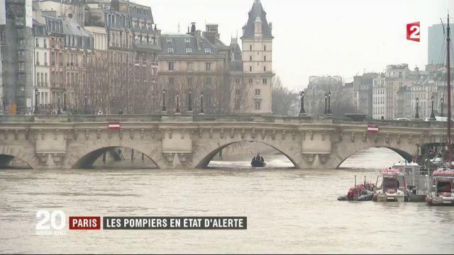 Paris : les pompiers en état d'alerte