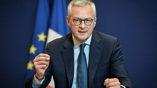Le ministre de l'Economie Bruno Le Maire lors d'une conférence de presse au ministère de l'Economie à Paris, le 19 mai 2020. (BERTRAND GUAY / AFP)