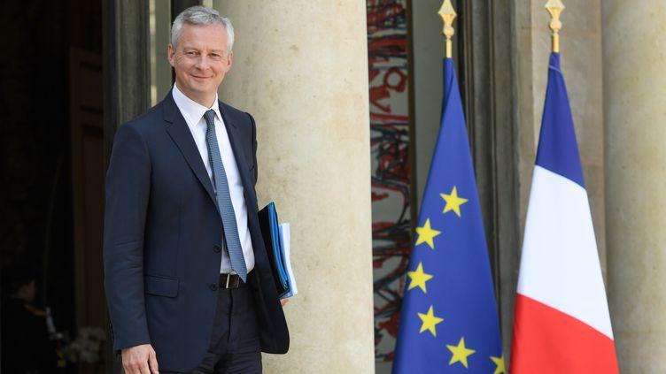 Le ministre de l'Economie, Bruno Le Maire, à Paris, le 9 mai 2018. (CHRISTOPHE ARCHAMBAULT / AFP)
