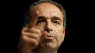Le président de l'UMPJean-François Copé,en meeting à Nantes (Loire-Atlantique), le 26 février 2014. (JEAN-SEBASTIEN EVRARD / AFP)