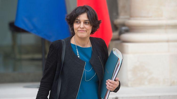 La ministre du Travail Myriam El Khomri à l'Elysée, à Paris, le 16 mars 2016. (CHAMUSSY / SIPA)