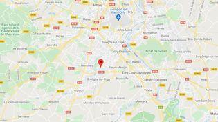 La rixe a eu lieu àSaint-Michel-sur-Orge. (GOOGLE MAPS)