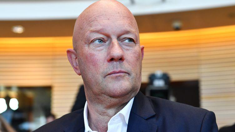 Thomas Kemmerich, éphémère président de la Thuringe, le 5 février 2020 à Erfurt(Allemagne). (MARTIN SCHUTT / DPA-ZENTRALBILD / AFP)