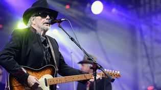 """Merle Haggard, chateur de country """"Outlow"""", est mort à 79 ans  (STEPHEN LOVEKIN / GETTY IMAGES NORTH AMERICA / AFP)"""