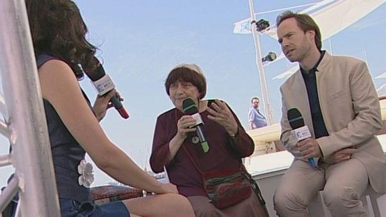 Agnès Varda et Eric Garandeau Président du CNC (Centre National de la Cinématographie)  (culturebox/ France 3 Côte d'Azur)