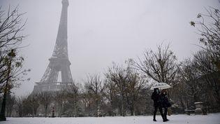 La tour Eiffel, le 16 janvier 2021. (MARTIN BUREAU / AFP)