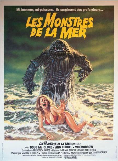 Affiche du filmLes Monstres de la mer. Estimation : 150 euros. (HÔTEL DROUOT)