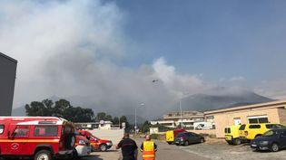 L'incendie en Haute-Corse. (MAXIME BECMEUR / RADIO FRANCE)