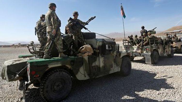 Militaires afghans près de leur base dans la province du Logar (est), le 16 février 2016. (REUTERS - Omar Sobhani)