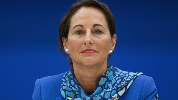 La ministre de l'Ecologie Ségolène Royal lors d'une conférence de presse, le 7 mai à Paris. (FRANCOIS GUILLOT / AFP)