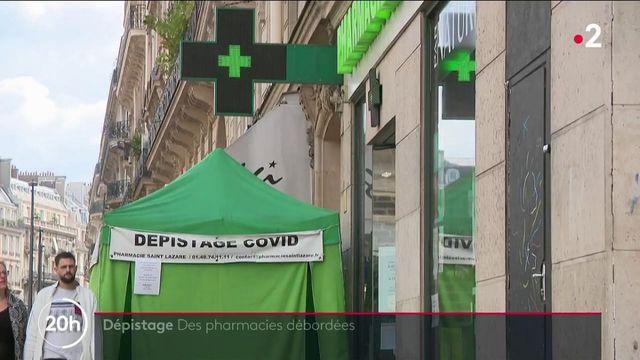 Covid-19 : les pharmacies débordées face à la demande de tests