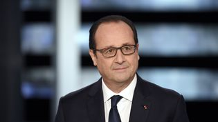 Le président de la République, François Hollande, lors d'une intervention télévisée, le 6 novembre 2014. (MARTIN BUREAU / AFP)
