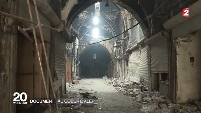 Pour la première fois depuis le début de la guerre, une équipe de télévision occidentale a pu entrer dans la citadelle d'Alep.