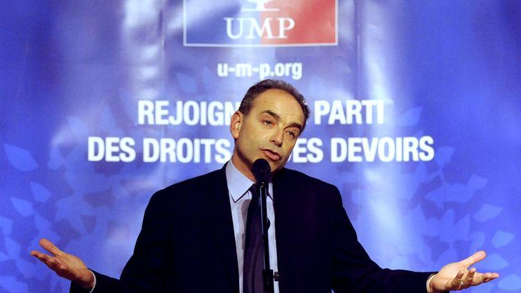 Le président de l'UMP Jean-François Copé, le 2 décembre 2012, lors d'un meeting à Nancy (Meurthe-et-Moselle). (JEAN-CHRISTOPHE VERHAEGEN / AFP)