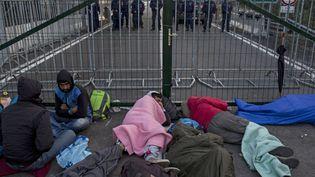 Beaucoup d'entre eux ont passé la nuit de lundi à mardi au pied de cette clôture, côté serbe, espérant encore pouvoir entrer en Hongrie. ( MARKO DJURICA / REUTERS)