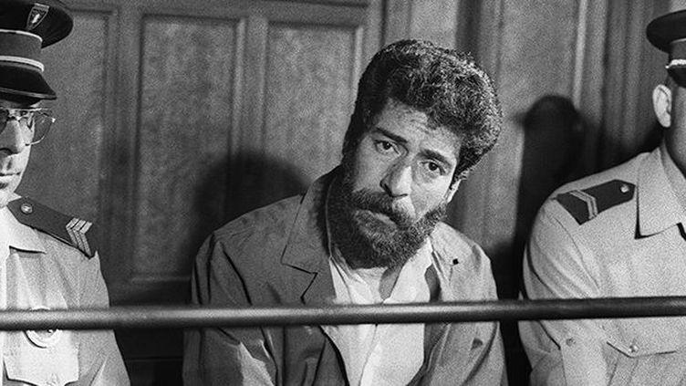 Le Libanais Georges Ibrahim Abdallah au tribunal de Lyon, le 3 juillet 1986. (AFP)