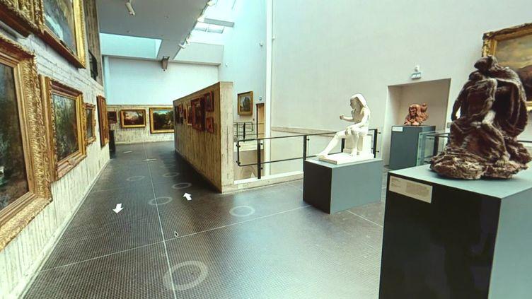 Le musée des Beaux-Arts de Besançon se viste en ligne. (CAPTURE D'ÉCRAN FRANCE 3 / DENIS COLLE)