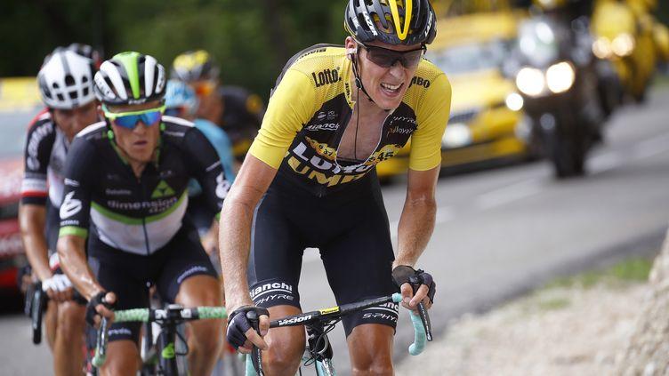 Robert Gesink (Lotto-Jumbo) lors de la 8e étape du Tour de France 2017 (DE WAELE TIM / TDWSPORT SARL)