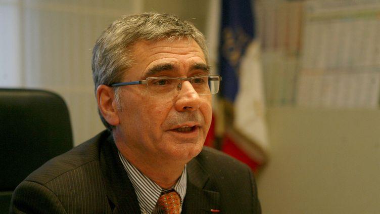 Jean-Claude Menault,directeur de la sécurité publique du Nord, lors de sa prise de fonctions le 21 janvier 2008 à Lille (Nord). (STEPHANE MORTAGNE / LA VOIX DU NORD / MAXPPP)