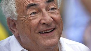 L'ex-directeur du Fonds monétaire international Dominique Strauss-Kahn, le 8 juin 2013 au tournoi de tennis Roland-Garros, à Paris. (MIGUEL MEDINA / AFP)