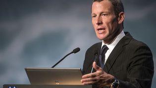 Le champion cycliste Lance Armstrong, à Montréal (Canada), le 29 août 2012. (ROGERIO BARBOSA / AFP)