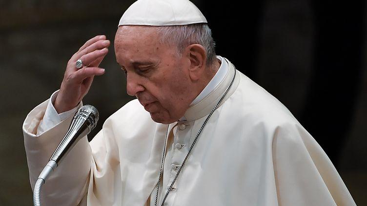 Le pape François le 22 août 2018, au Vatican. (VINCENZO PINTO / AFP)