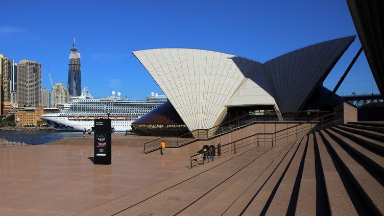 L'opéra de Sidney en mars 2020 (STEVEN SAPHORE / ANADOLU AGENCY)