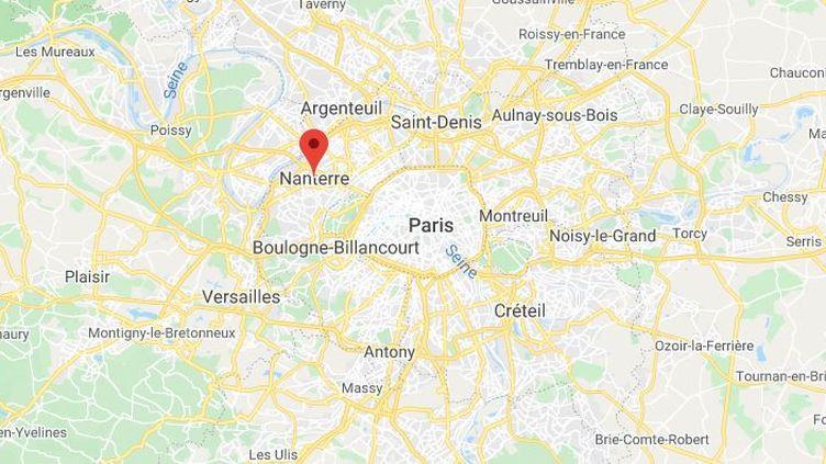 La commune de Nanterre dans les Hauts-de-Seine. (GOOGLE MAPS / FRANCETV INFO)