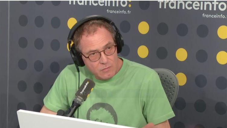 Joël Vermont, 52 ans, séropositif depuis 1992, témoigne sur franceinfo le 19 septembre 2018. (RADIO FRANCE / FRANCE INFO)