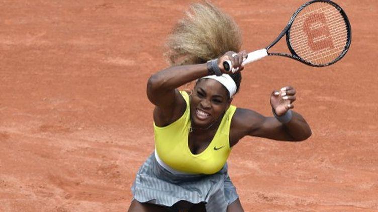 L'Américaine Serena Williams, numéro 1 mondiale de tennis, le 28 mai 2014 à Roland-Garros. (DOMINIQUE FAGET / AFP)