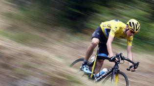 ChrisFroome (Sky) sur la 12e étape du Tour de France 2015, entre Lannemezan et le plateau de Beille. (STEFANO RELLANDINI / REUTERS)