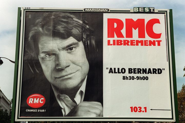 Une affiche de RMC, en 1999. (MAXPPP)