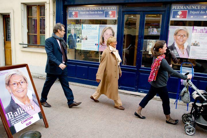 Isabelle Balkany, le 16 mars 2011, lors des élections cantonales. (MARTIN BUREAU / AFP)