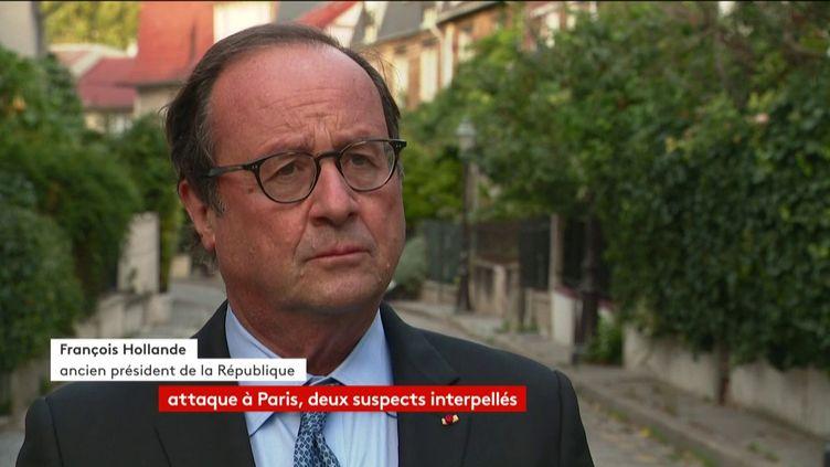 L'ancien président de la République François Hollande, le 25 septembre 2020, sur franceinfo. (FRANCEINFO)