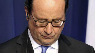 Le président de la République François Hollande, lors d'une conférence de presse à Dublin (Irelande), le 21 juillet 2016. (PAUL FAITH / AFP)