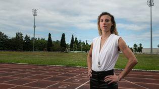 L'athlète françaisede demi-fond Ophélie Claude-Boxberger, le 22 juin 2020. (SEBASTIEN BOZON / AFP)
