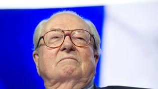 Le président d'honneur du Front national Jean-Marie Le Pen lors d'une cérémonie pour l'épiphanie à Paris, le 25 janvier 2015. (ALAIN JOCARD / AFP)