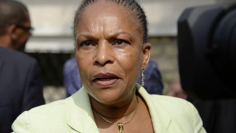 La ministre de la Justice, Christiane Taubira, à Lagny-sur-Marne (Seine-et-Marne), le 6 août 2013. (BERTRAND GUAY / AFP)