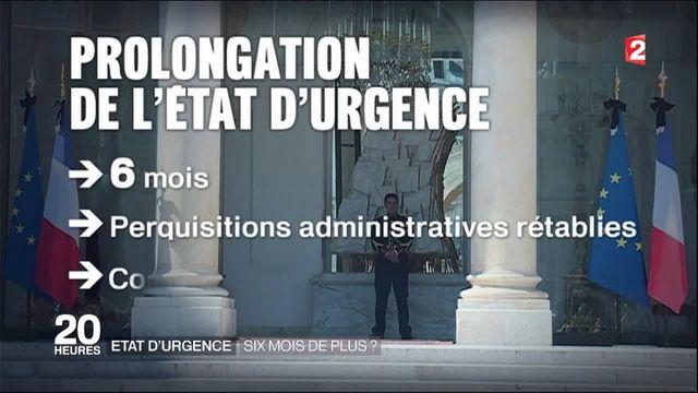 État d'urgence : vers une prolongation de six mois ?